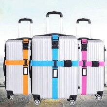 Чемодан с поперечным Ремешком упаковки пояса регулируемая дорожного чемодана нейлон 3 цифры паролем Туфли с ремешком и пряжкой багажа Ремни популяции
