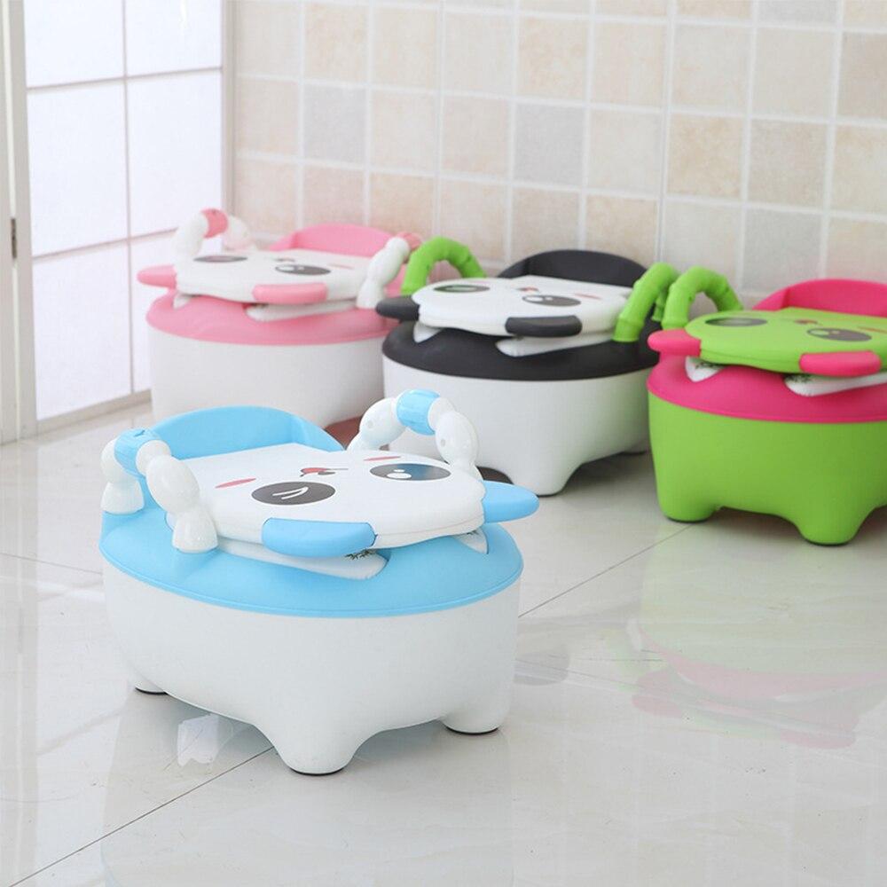 Del bambino vasino wc ciotola di formazione wc pan pot dei sedili per bambini bambini padella orinatoio portatile schienale comodo del fumetto sveglio pot