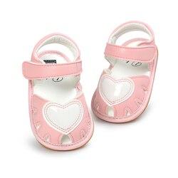 صندل أطفال جديد جذاب للبنات على شكل قلب من البولي يوريثان حذاء أطفال للصيف