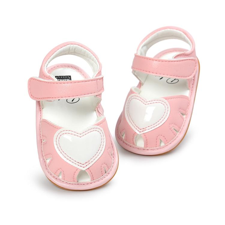 2a8c85448b Νέο 2017 Γλυκό χαριτωμένο μωρό κορίτσια Sandals PU Heart μωρό παπούτσια για  το καλοκαίρι