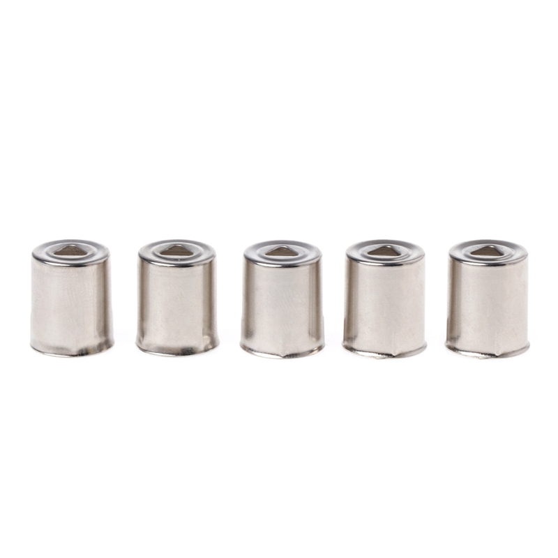 5Pcs/Set Steel Cap Microwave Oven Replacement Round Hole Magnetron Silver Tone Tone Home Kitchen Appliance Parts Accessory