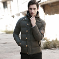 New Fashion Parkas Warm Mens Jackets Coats 2016 Spring Winter Jacket Men High Quality Down Cotton Clothes Army Green Size M-3XL