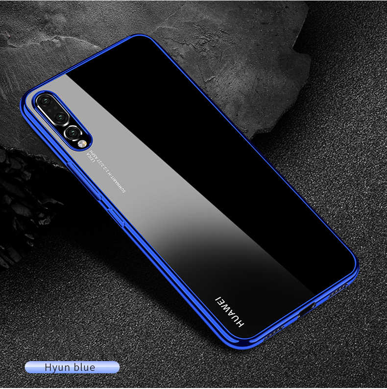 สำหรับ Huawei P20 Pro P10 P Smart Plus Nova 3 3i 3E Mate 10 9 Honor 10 9 7X 8X 8C V10 Electroplate Tpu Anti-Skid Case TPU