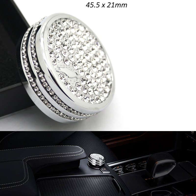 5pcs lots Edition I-Drive Multimedia Controller Cover 45.5x21mm Series Car Style Diamonds Crystal Badges Emblem TOP Quality