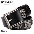 Hot sale Rock&Roll the punk style belt for men  fashion  vintage  style  belt   men  leather strap black color  No:WA1311053