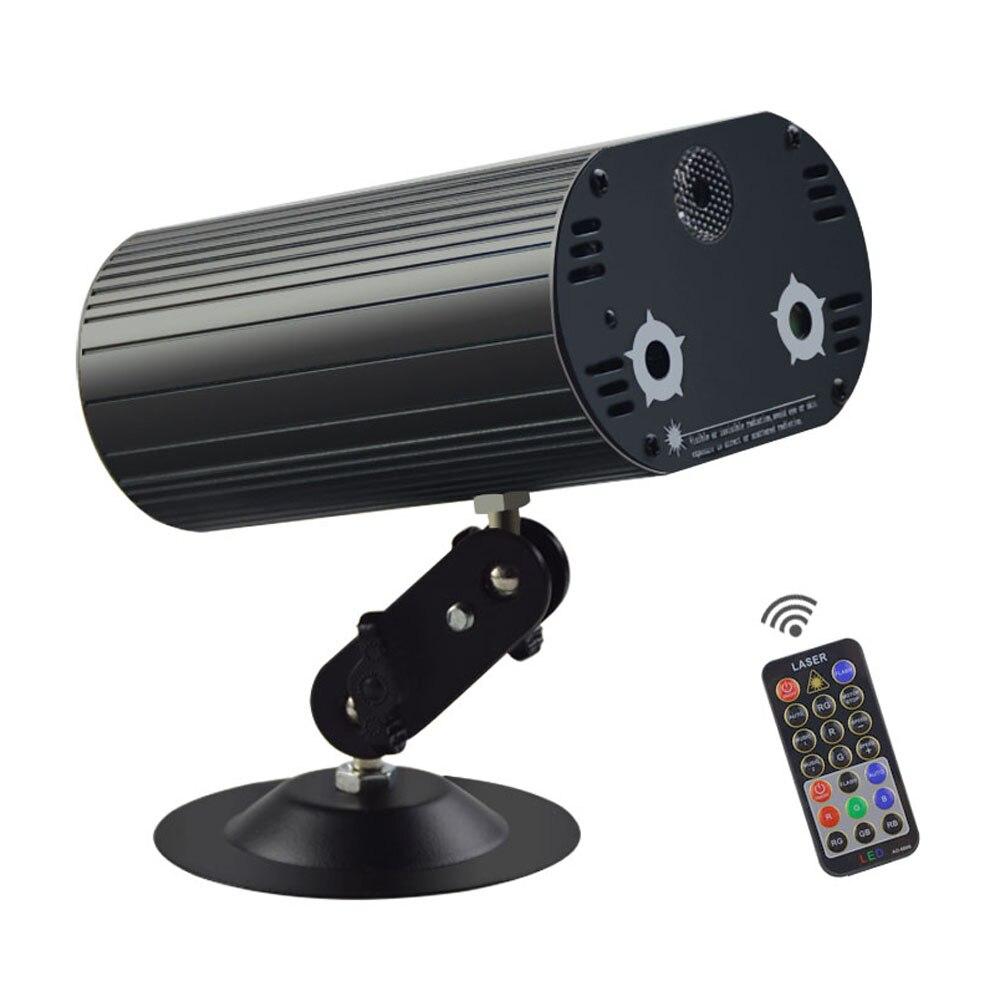 Mini Projecteur Laser Lumière 24 Modèles RVB 3 Lentille LED Éclairage de Scène Effet Coloré DJ Disco KTV Musique De Fête Bleu laser Lumière