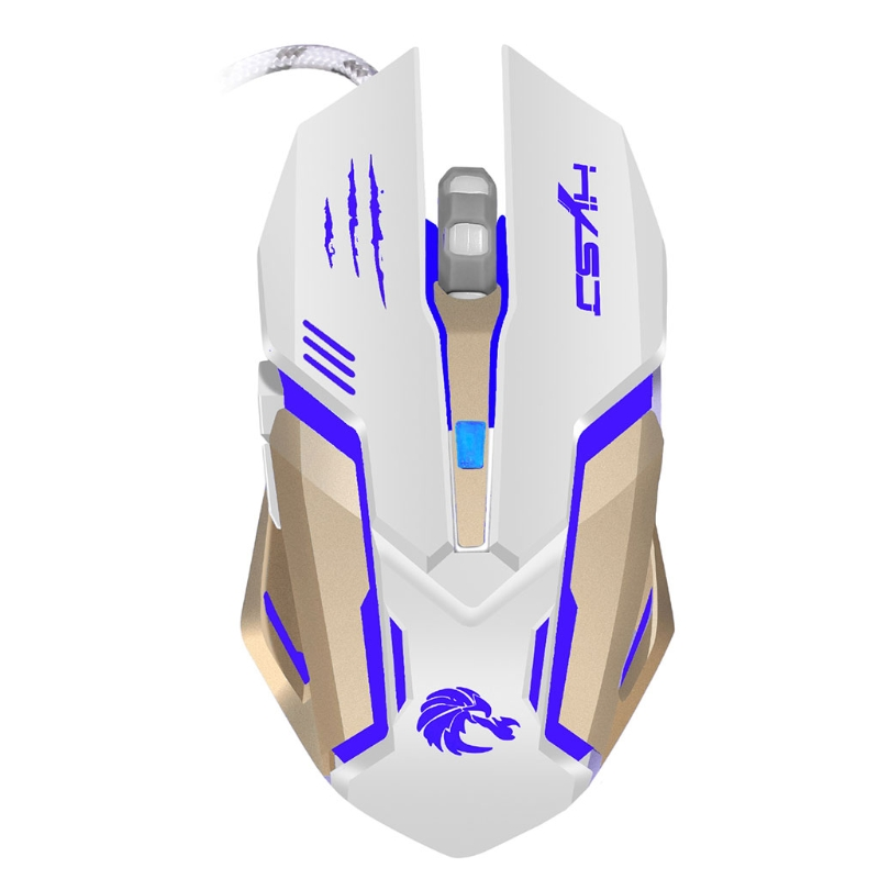 Professional Wired Gaming Mouse S100 5500 DPI 6 Button Colorful LED Backlit Light USB Wired Optical Gaming Mouse
