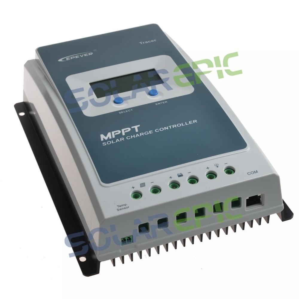 10A 20A Epever Solaire MPPT régulateur de charge 12 V/24 V Tracer UNE Batterie Panneau régulateur de tension Chargeur Max PV 60 V contrôleur solaire