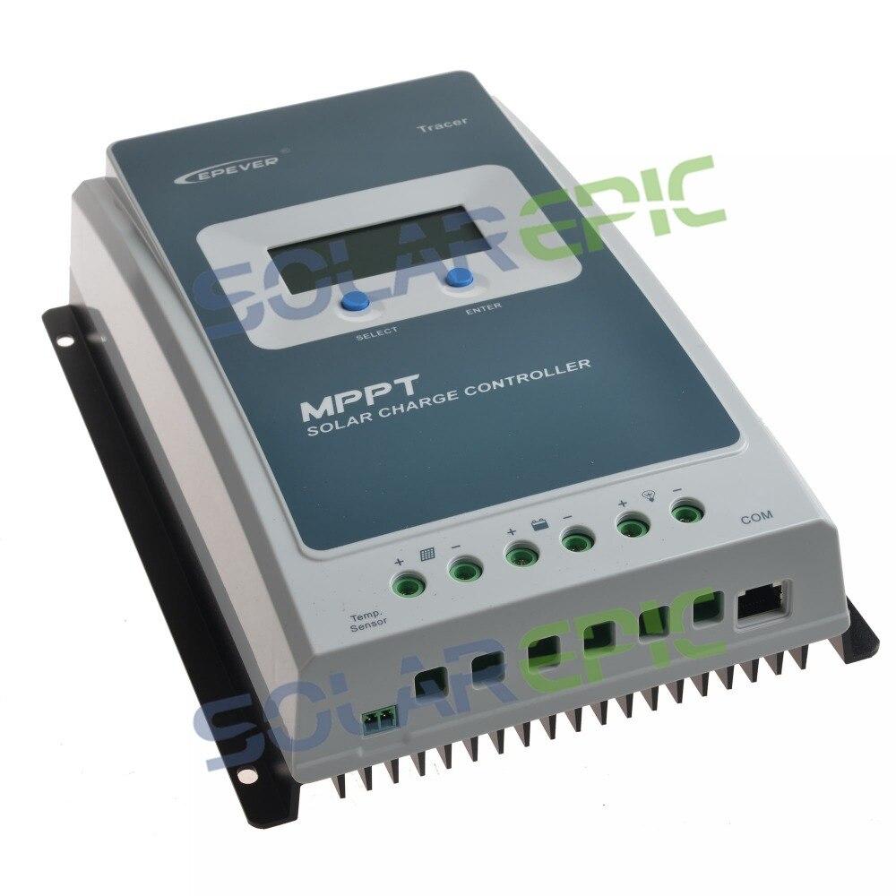 10A 20A Epever MPPT Controlador de Carga Solar 12 V/24 V Tracer UM Carregador de Painel de Bateria Regulador De Potência Máxima PV 60 V Controlador Solar