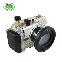 Seafrogs for Canon S120 40m/130ft Meikon Underwater Camera Housing for Cannon Diving Photography Accessories meikon 40m wp dc44 waterproof underwater housing case 40m 130ft for canon g1x camera 18 as wp dc44