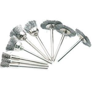 JIGONG 9 шт. стальная щетка щетки колеса провода, шлифовальный станок, вращающийся инструмент, электрический инструмент для гравера