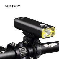 Gaciron mtb 자전거 led 손전등 400 lm usb 충전식 산악 도로 자전거 핸들 바 헤드 라이트 방수 사이클링 테일 라이트