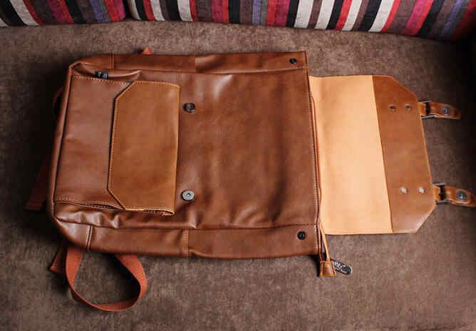 3310b73944c ... New men backpacks vintage leather backpack big size travel bag student  casual laptop backpack school bags ...