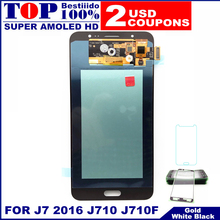For Samsung Galaxy J7 2016 J710 J710F J710FN J710M J710Y LCD Display AMOLED LCDs Touch Screen