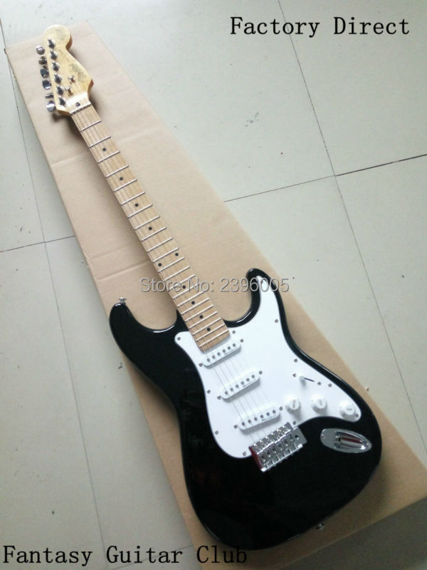 Shipping free Factory direct,Wholesale st guitar Chinese electric guitar,basswood body maple neck high quality black color free shipping chinese factory custom 2015 100
