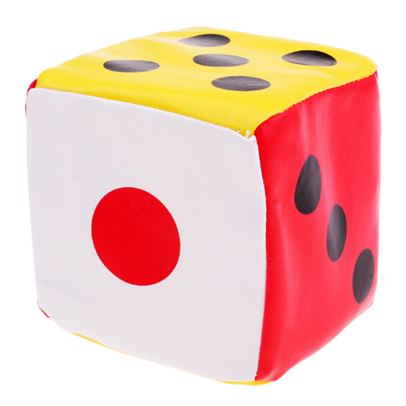 Leather Dice Sponge Dice Six Sided Spot Game Math Teaching Kids Child 10cm Large Useful Durable Universal Good