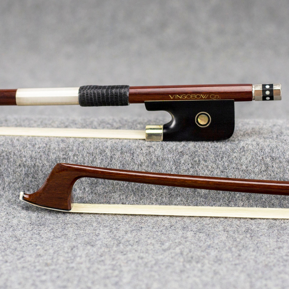 850C 4/4 Size Pernambuco CELLO BOW Ebony Frog Nickel Silver Mounted Natural Mongolia White Horse Cello Parts Accessories