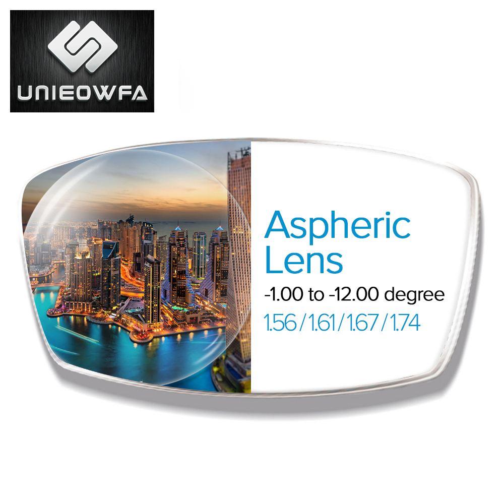 Aspheric Lenses 1.56 1.61 1.67 1.74 Prescription Lenses CR-39 Resin Optical Lens Myopia Hyperopia Glasses Lens Presbyopia Lens