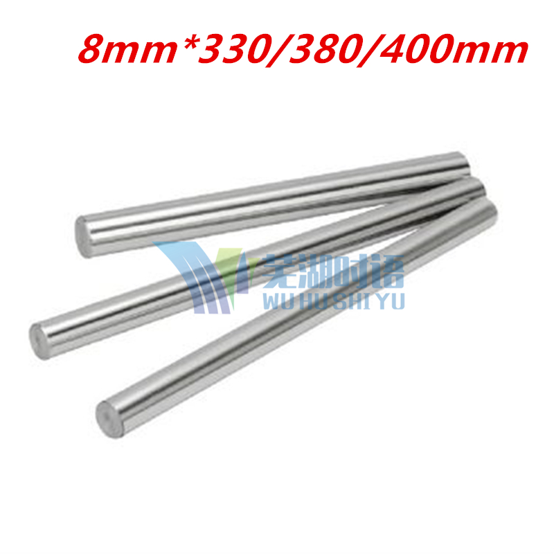 Three length : 330/380/400mm for 8mm linear rod  shaft LM8UU CNC parts 3D printer parts 8mm linear shaft group 33pcs l350mm 33pcs l405mm 33pcs l420mm for 8mm rod shaft lm8uu