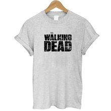 Summer 2017 The Walking Dead T shirt Women Tops Tees Short sleeve o neck Black White Grey T-shirt Funny Top Plus size