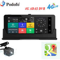 Podofo Car DVR Camera GPS Navigation 7 4G ADAS Touch Dashcam WiFi Bluetooth FHD 1080P DVRs