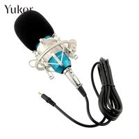 BM800 Professional Music Condenser Microphone Sound Recording With Shock Mount Blue Silver For Stage KTV Audio