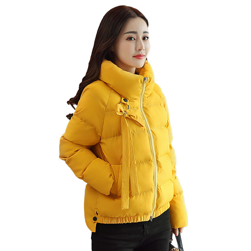 Autumn/Winter Warm Cotton Padded Stand Collar Jacket Women Casual Solid Color Short Parka Manteau Femme Hiver Zipper Coat TT3514 new 2017 winter autumn cotton short basic jacket women hooded casaco coat warm manteau hiver femme fur collar slim coats