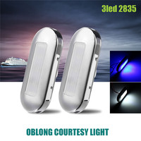 2pcs Ship Lights 0 5W LED Marine Boat Yacht Stainless Steel Anchor Stern Light Blue White
