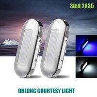 2pcs Ship Lights 0 5W LED Marine Boat Yacht Stainless Steel Anchor Stern Light Blue White