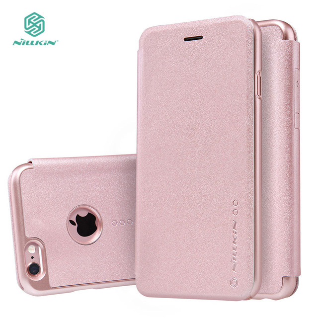 new arrivals 837c3 38ec2 US $11.99 |NILLKIN NEW LEATHER CASE Sparkle Flip PU Leather Case For Apple  IPhone 6 6s (4.7