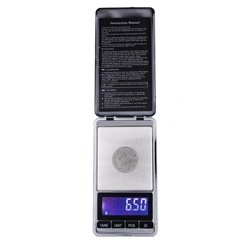 Digital Mini Scale 200g 0.01g Pocket Jewelry Scale Electronic Smart Scale with LCD Backlight Display 17%off