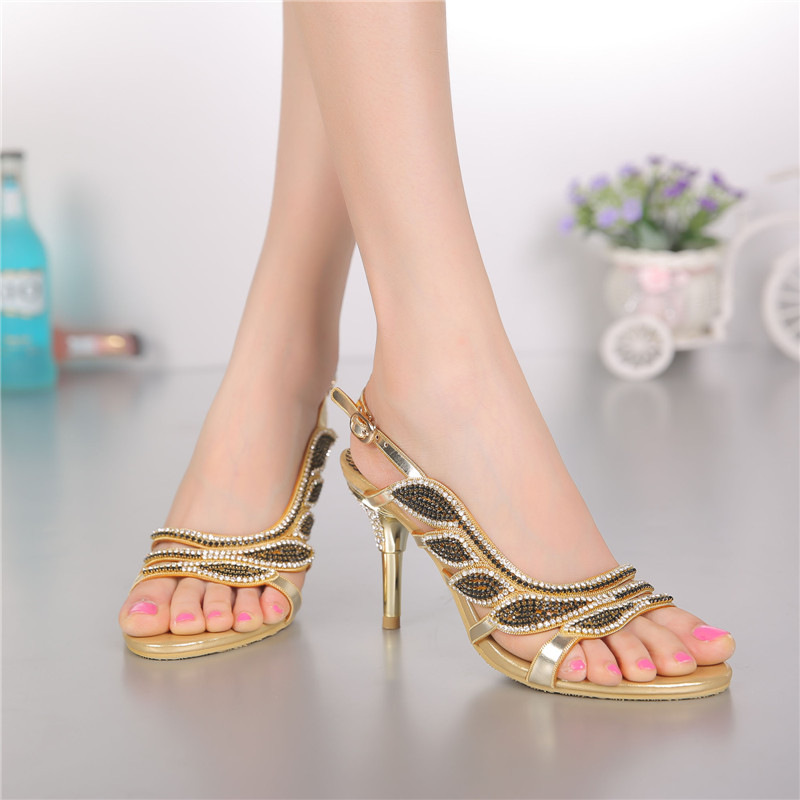 ac59a6643035dd Women Summer New Luxury Shoes Sale Online Leather High Heeled Open toed  Sandals With Diamond High Quality-in High Heels from Shoes on  Aliexpress.com ...