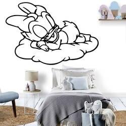 Милая утка самоклеющаяся виниловая водостойкая Наклейка на стену для детской комнаты аксессуары для дома