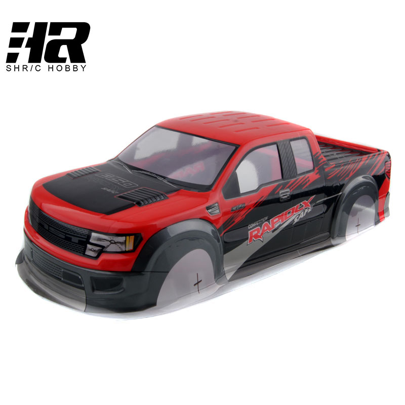 RC car 1:10 HSP 94111 94188 AX032 car shell PVC Width 200MM color Blue and red big wheel cross-country model mp620 mp622 mp625 projector color wheel mp620 mp622 mp625