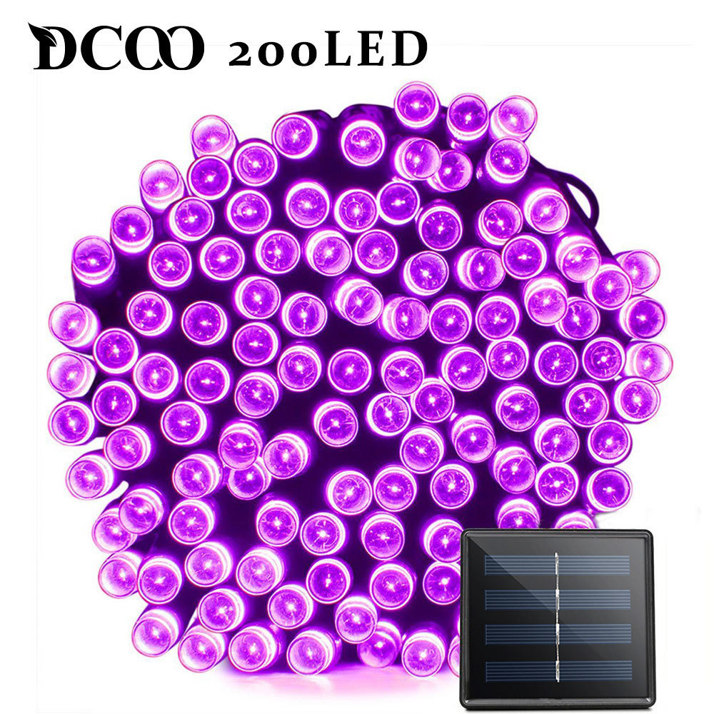 Dcoo LED Solar Light 72ft 22m 200 LED 8 Modes Hage Light Solar Lamp Led Solar Light Garden Lighting Led Utendørs Vanntett