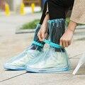PVC Lluvia Ajustable Slip Overshoes Cubierta Del Zapato Puerto de la Viga Impermeable a prueba de agua de Alta Superior Al Por Mayor A Granel Accesorios Suministros