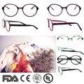 O ENVIO GRATUITO de 2016 menos arredondado moda óculos de marca frame do vintage óculos quadros para as mulheres big pink frame eyeglassesB140253