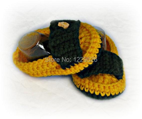 Υποδήματα μωρών, πράσινα παπούτσια κίτρινου χρώματος, ακρυλικά νήματα, παπούτσια για μωρά, δώρο μωρών για ντους, κουμπιά αρκουδάκι 0 έως 12 μηνών, μωρό παπουτσιών
