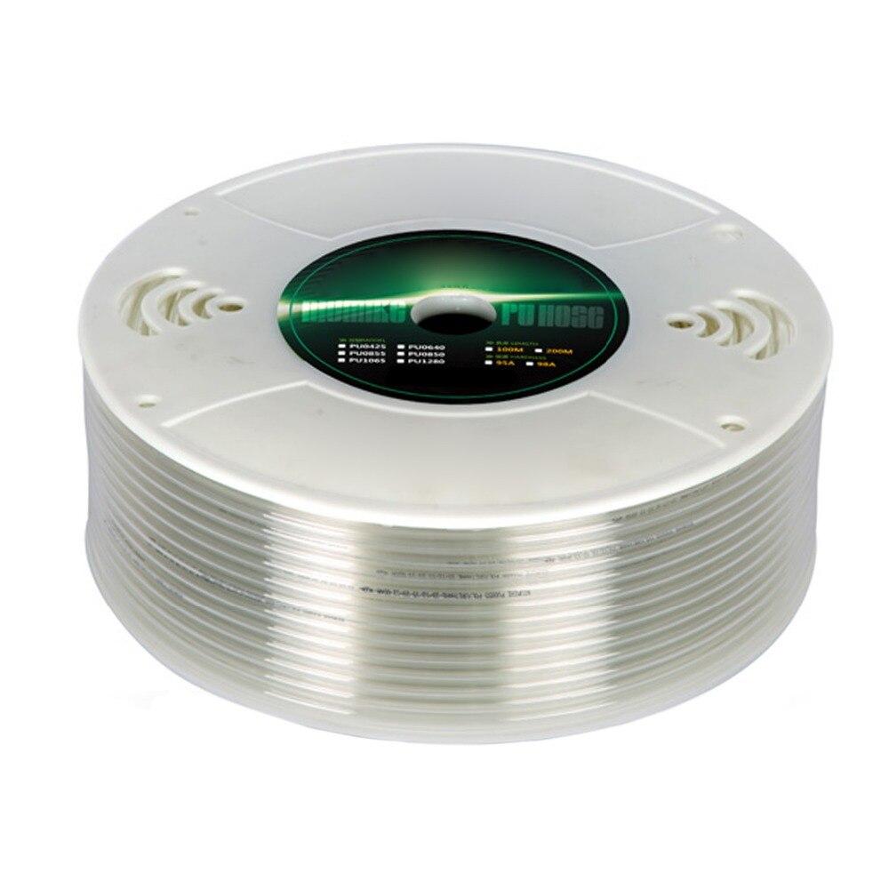 Transparent Color Air PU Pipe Pneumatic Components PU WindPipe Pneumatic Hose Pipe Tube ID 10 mm OD14 mm,100 Meter цена и фото
