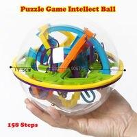 158 Adımlar 3D Sihirli Akıl Topu Mermer Oyunu manyetik topları perplexus IQ Denge oyuncak, Eğitim klasik oyuncaklar Labirent top