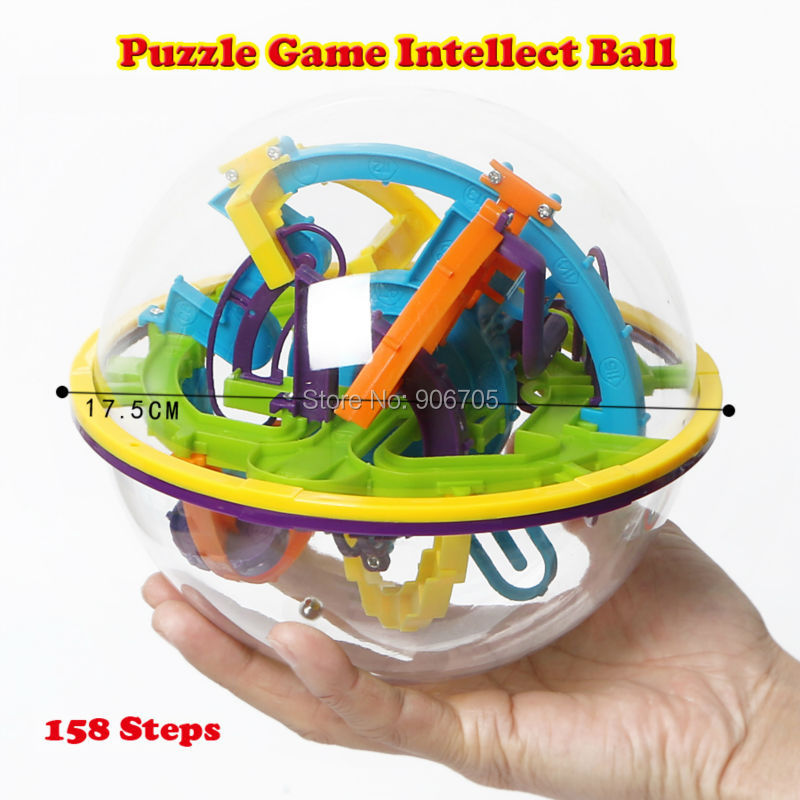 158 Steps 3D Magic Intellect Ball Marble Puzzle Game perplexus magnetic balls IQ Balance toy,Educational classic toys Maze Ball wooden magnetic labyrinth maze educational game toy