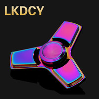 LKDCY Finger Finger Tip Finger Gyro Gyro Three Colorful Spiral America EDC Inception Decompression Toys