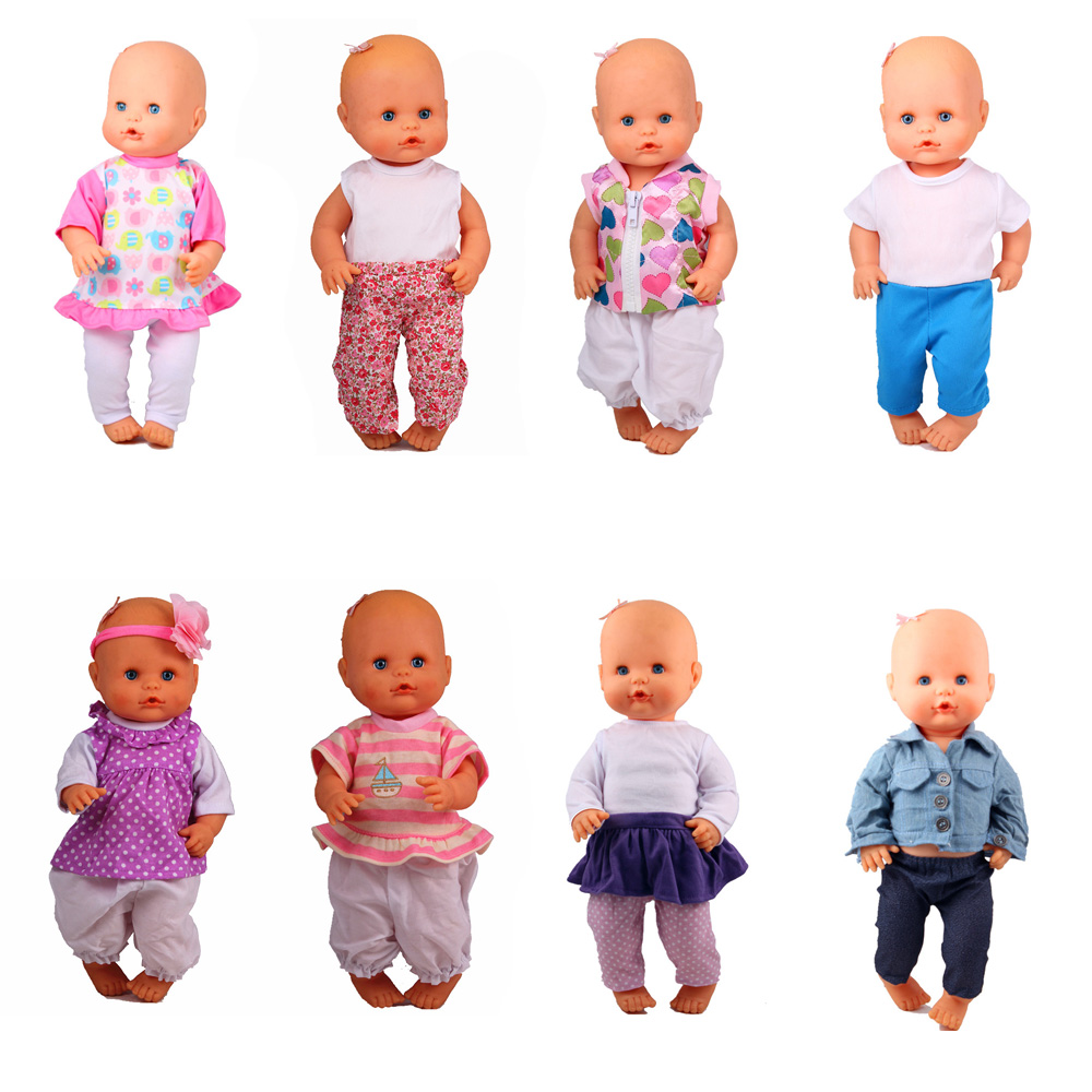 13inch Doll Clothes 35CM Nenuco Ropa Accesorios Nenuco Y Su Hermanita 8 Different Styles Casual Clothes Best Girl DIY Toy Gift