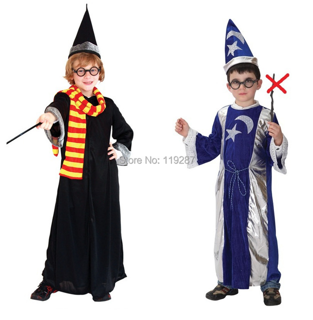halloween costumes boys hogwarts harry potter cosplay costume kids gryffindor moon and stars wizard costume for