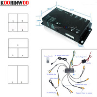 Parking Assistance Monitor Video Control Switch Combiner Box for 360 Degrees Left / Right / Front / Rear view camera Switch