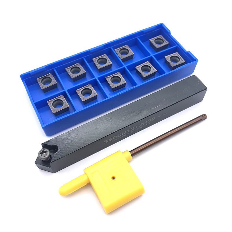 10pcs SCMT09T304 Carbide Insert Blade Cutter With 1pc SSDCN1212H09 Holder CNC Lathe Turning Tool Set