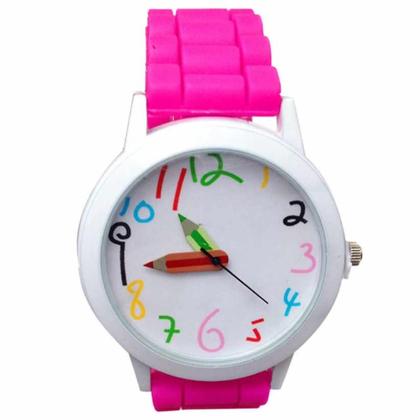 Zegarki dzieciak dziewczyny chłopcy paski silikonowe zegarek dzieci analogowy zegarek kwarcowy śliczny zegar Montre Enfant zegarki Kid CC5