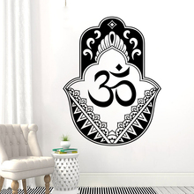 Hanging Hamsa Wall Vinyl Art Hand Of Fatima Sticker Oriental Design Yoga Decal Mural Home Decor AY1404