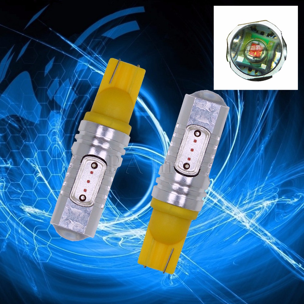 PA LED 2PCS x Yellow LED Car Light Bulbs Backup Reverse Light Bulbs Parking Lights T10 1 ...