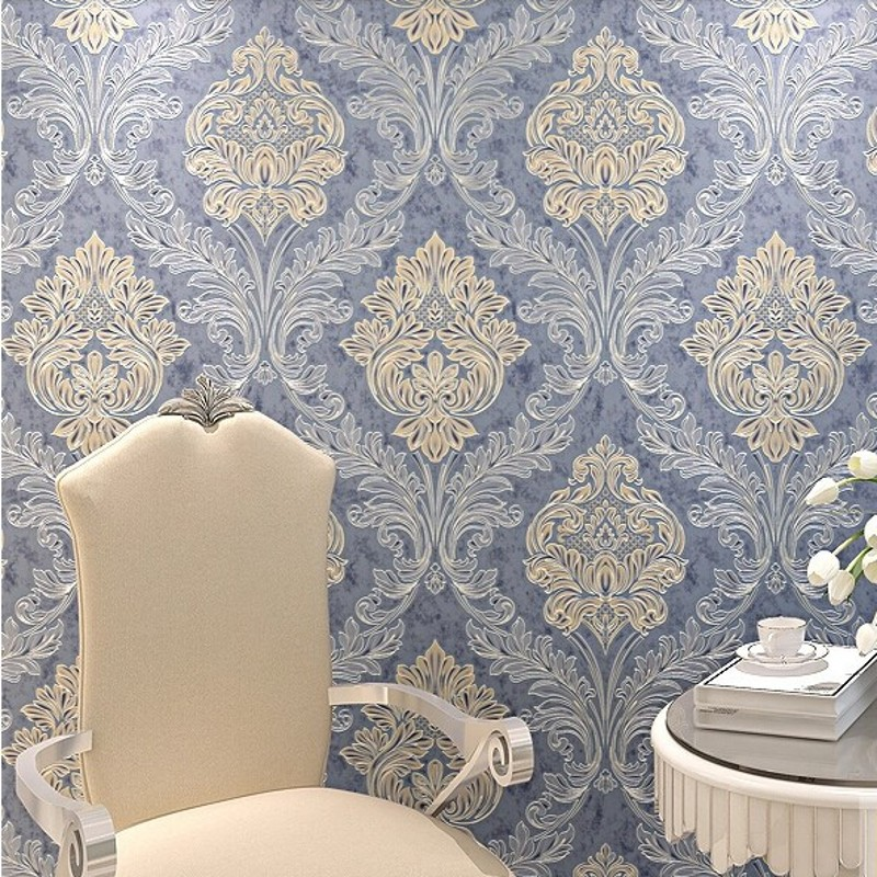 beibehang Damask Wall Paper Roll Europe Papel De Paredes Para Sala contact paper Luxury wall paper for bedroom living room home beibehang wall coverings mural wall paper roll bedroom sofa off white textured feature europe vintage glitter damask wallpaper